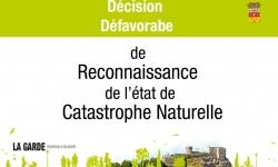 Décision défavorable de Reconnaissance de l'état de  Catastrophe Naturelle